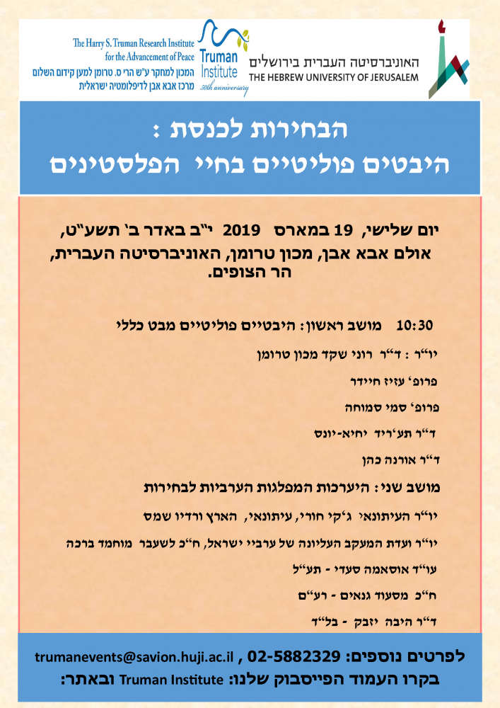 Elections to the Knesset